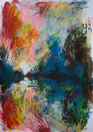 Eine abstrakte Landschaft, spiegelndes Wasser und so viele Graffiti Tags, dass einem ganz schwummerig wird!