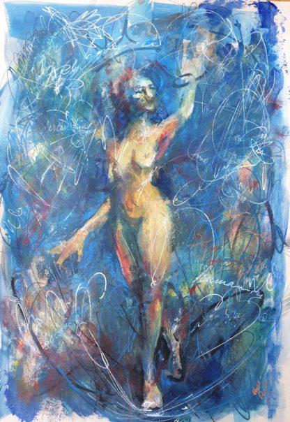 """Tarot Card Painting: Urban Abstraction Tarot Painting """"The Magician"""""""