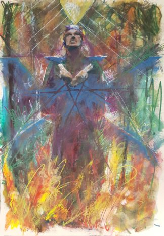 """Urban Abstraction Tarot Painting """"The Hierophant"""""""