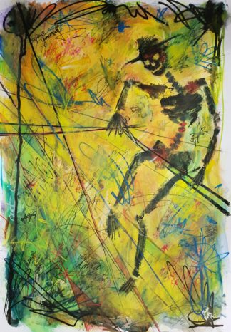 "Tarot Card Painting: Urban Abstraction Tarot Painting ""Death"""