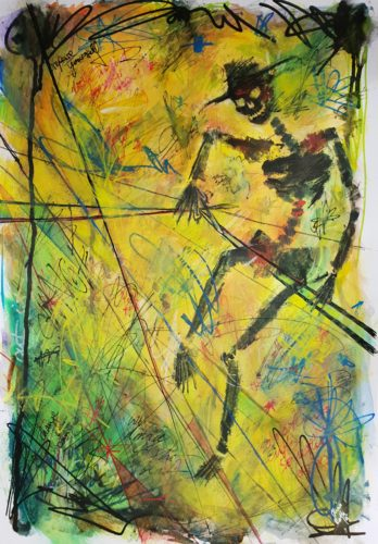 "Tarot Card Painting: Urban Abstraction Tarot Painting ""Death"""